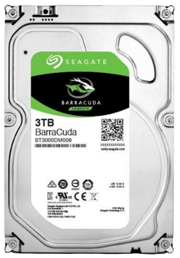 "Жесткий диск HDD 3Tb Seagate Barracuda <SATA-III, 7200.12, 3.5"", NCQ, 64 MB cache>"