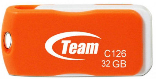 Флеш накопитель USB 2.0 TEAM 32GB C126 DRIVE ORANGE TC12632GE01