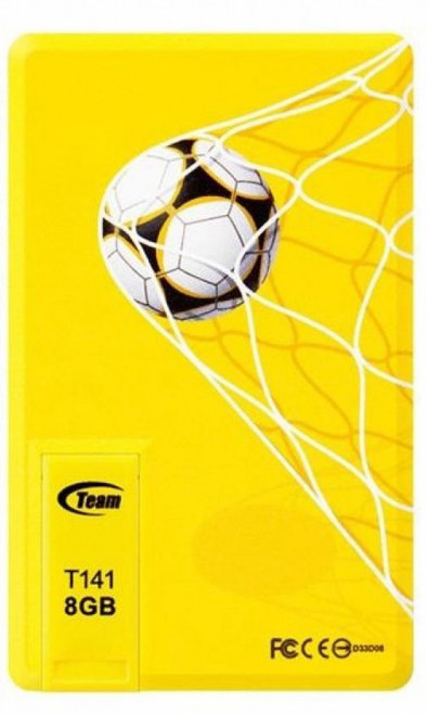 Флеш накопитель USB 2.0 TEAM T141 OEM DRIVE 4GB Yellow Bulk