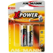 Батарейка ANSMANN MIGNON X-POWER-1.5V-AA-2шт/уп