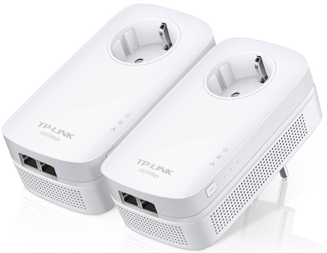 Сетевой адаптер Powerline Tp-Link TL-PA7020P KIT(EU) AC Pass Through