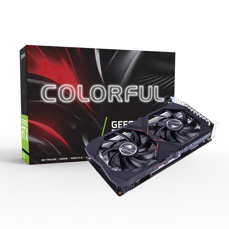 Видеокарта Colorful PCI-E NV GTX1650 4G BA2V <4GB, GDDR5, DP+HDMI+DVI, Boost:1680Mhz>