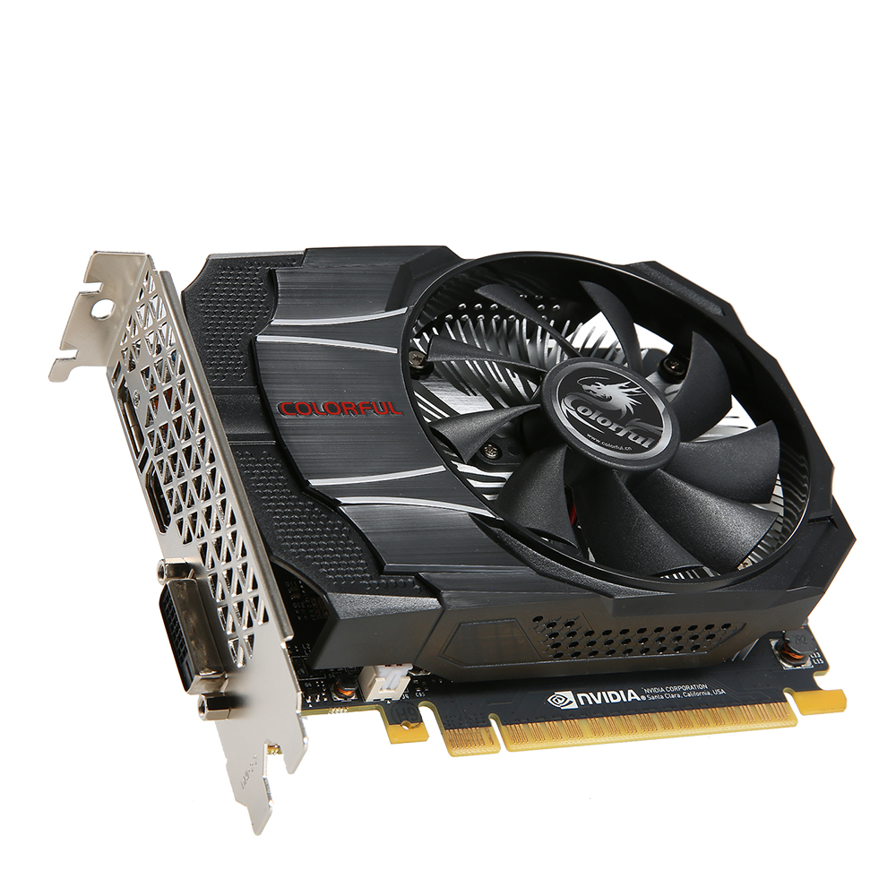 Видеокарта Colorful PCI-E NV GTX1050 Mini OC 2GB <GDDR5, 128-bit, HDMI, DVI-D, DP>