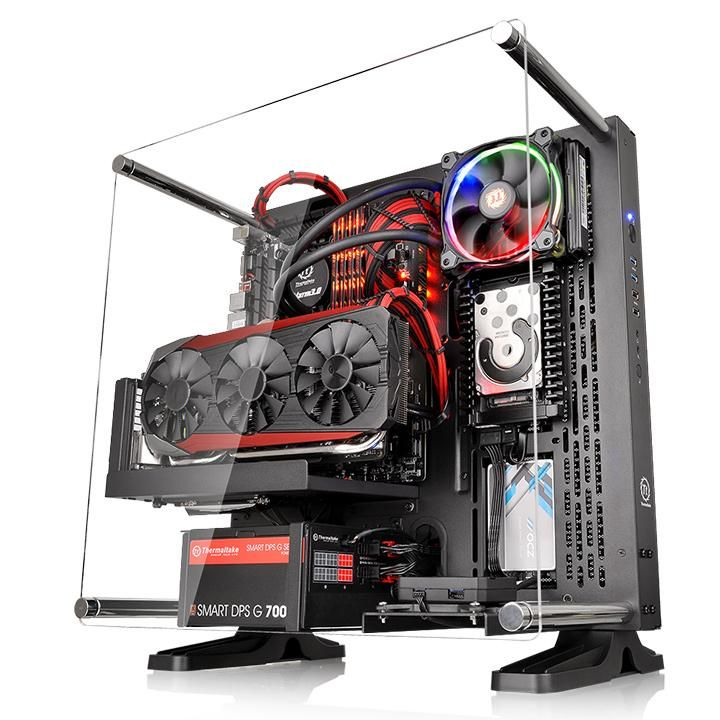 Корпус ПК без БП Thermaltake Core P3 <Wall Mount, Tempered Glass, CA-1G4-00M1WN-00>