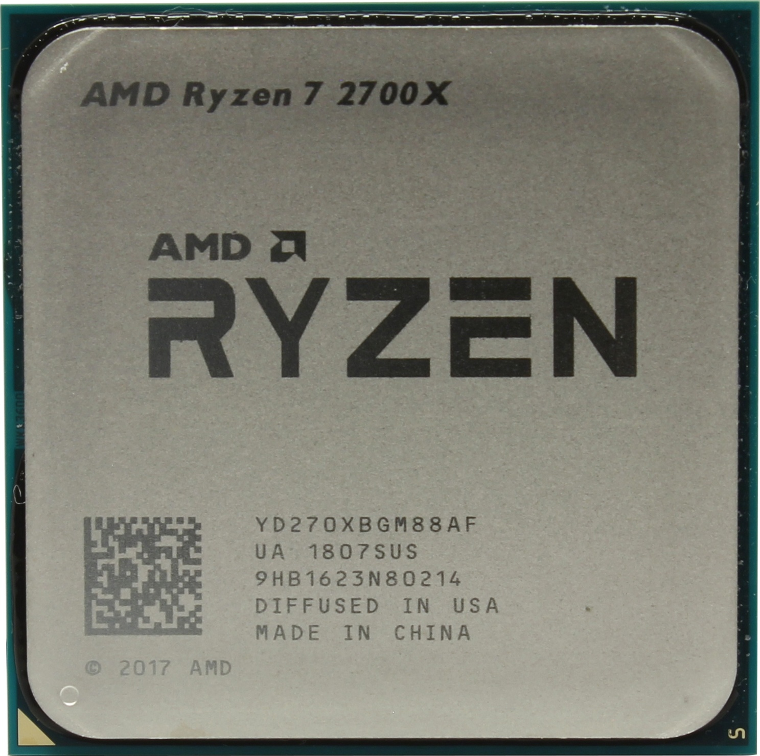 Процессор CPU AM4 AMD Ryzen 7 2700X TRAY <4.35GHz, 105W, 8C/16T, 20MB(L2+L3)>