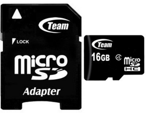 Карта памяти CLASS 10 TEAM 16GB MICRO SDHC W/1Adapter