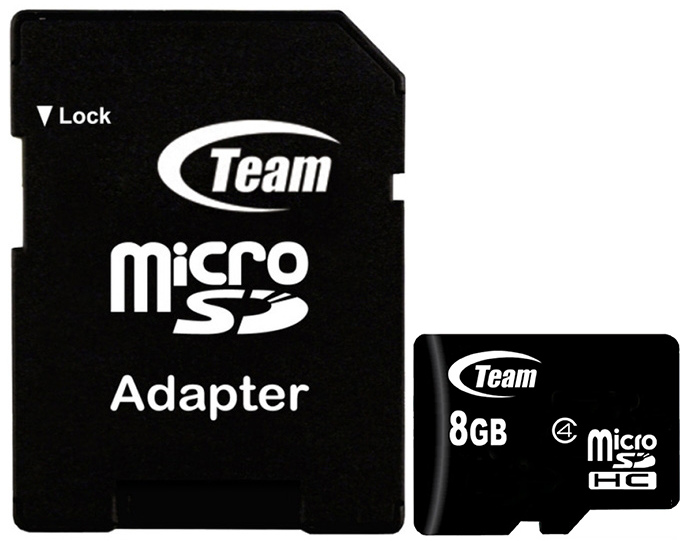 Карта памяти CLASS 10 TEAM 8GB MICRO SDHC W/1Adapter