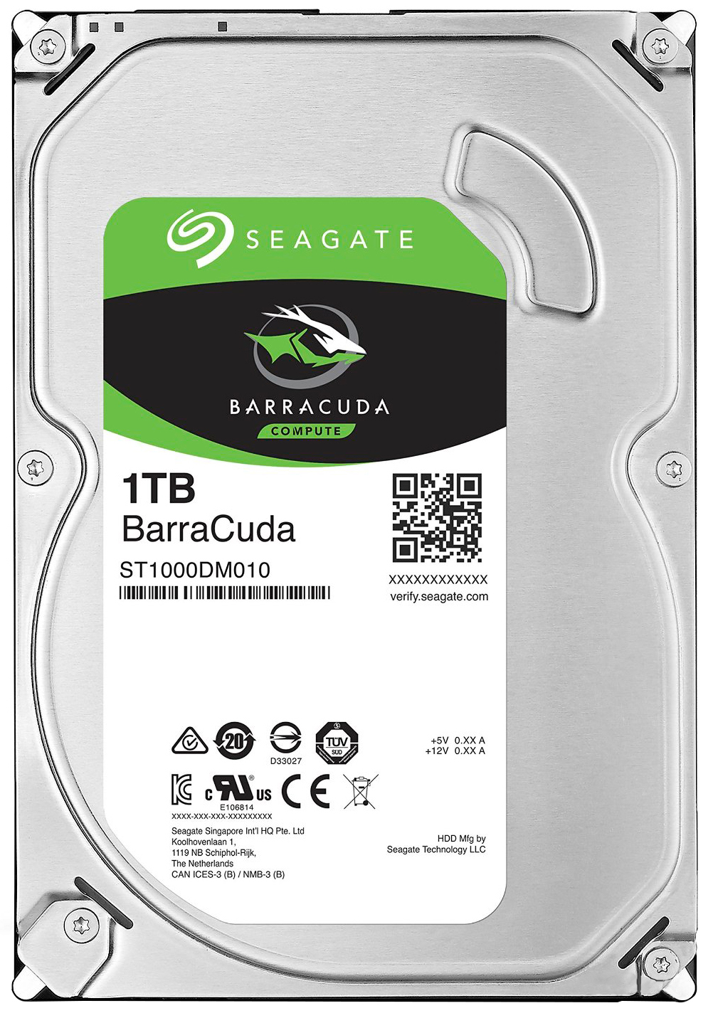 "Жесткий диск HDD 1Tb Seagate Barracuda ST1000DM010 V2 <SATA-III, 7200.12, 3.5"",  NCQ, 64 MB cache>"