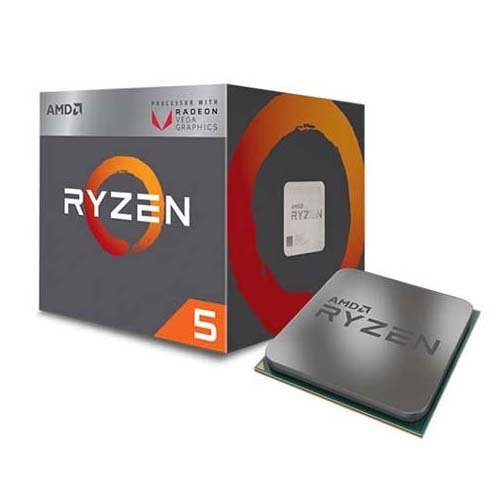 Процессор CPU AM4 AMD Ryzen 5 2400G BOX RX Vega Graphics <3.9GHz, 65W, 4C/8T, 6MB(L2+L3)>