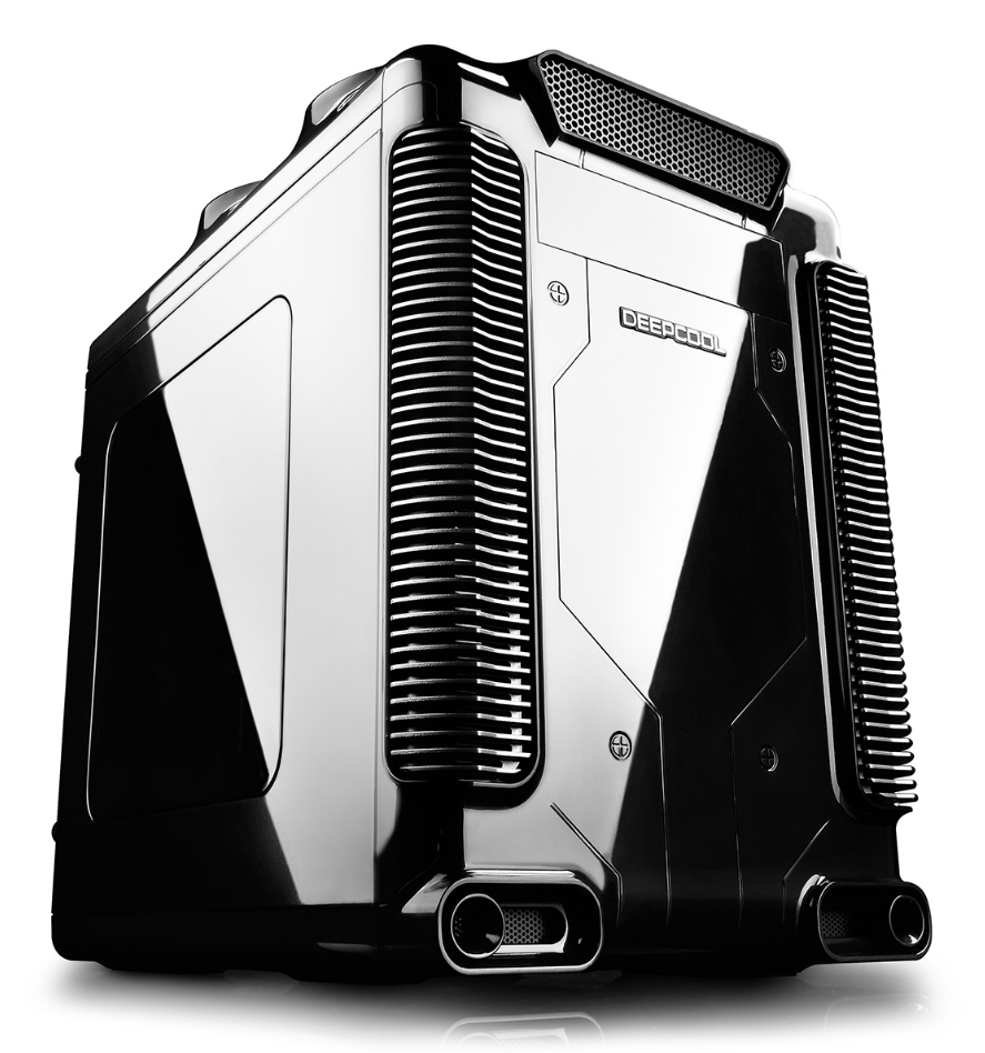 Корпус ПК без БП DEEPCOOL STEAM CASTLE BKS <Mini/Micro ATX,Кулер 1*12см,USB 3.0/2.0,Чёрный>