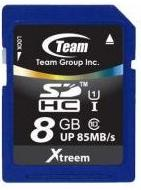 Карта памяти TEAM 8GB SDHC UHS-I(85MB) TSDHC8GU8501