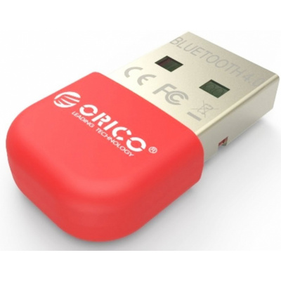 Адаптер USB Bluetooth ORICO BTA-403-RD <BT4.0, 3Mbps, до 20M, RED>