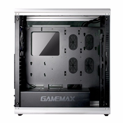 Корпус ПК без БП GameMax Raider X <ATX, 1x120mm, USB3.0x 2, USB2.0x 2, 3.5х3, PCI 8, 464x230x515mm>