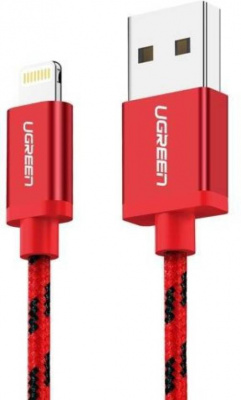 Кабель Lightning Ugreen US247 <USB3.0, RED, 2.4A, 1.5M, 40481>