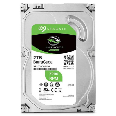 "Жесткий диск HDD 2Tb Seagate Barracuda <SATA6Gb/s, 7200rpm, 256Mb, 3,5"", ST2000DM008>"
