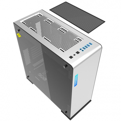 Корпус ПК без БП GameMax M(9)909 Vega White Temp Glas <ATX, 1х120mmRGB, 5x3,5, 4x2,5, 210x516x491mm>